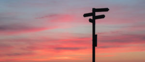 Sign post in Sunset